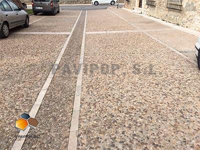 Pavimento Que Es : Pavimento de hormigón desactivado arido visto hormigon lavado